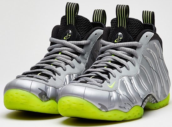 0d9dbc90a2189 Nike Air Foamposite One Premium Metallic Silver Volt-Black-Metallic Cool  Grey Release Reminder