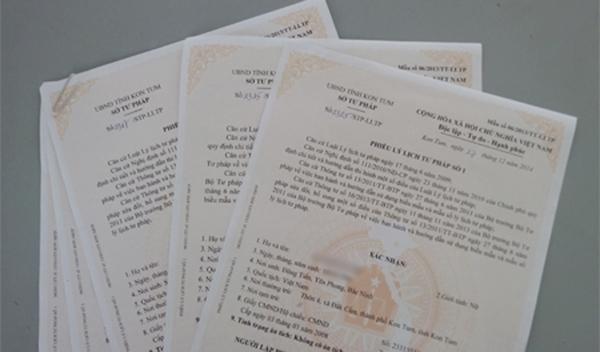 Cân nhắc việc bỏ quy định về phiếu lý lịch tư pháp số 2