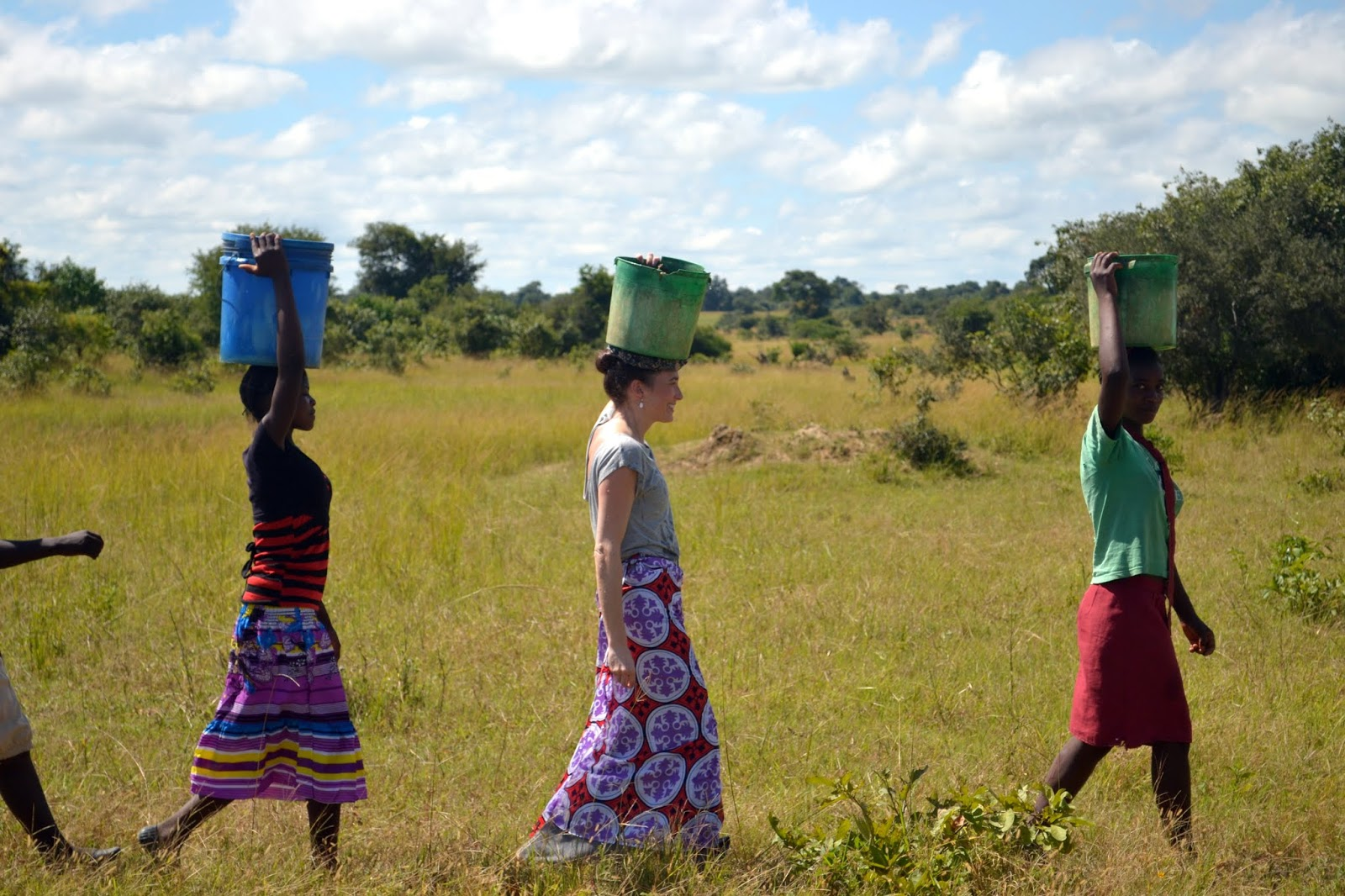 girls in africa walking for water