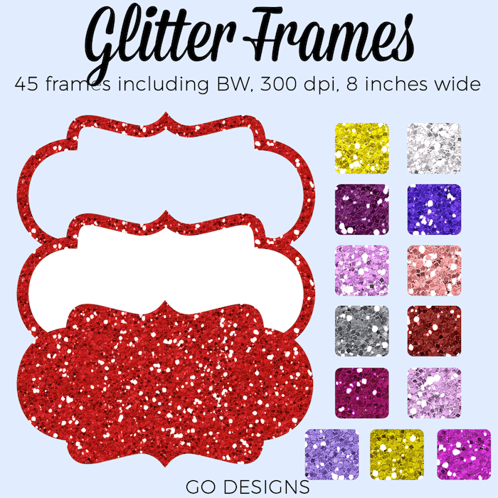 https://www.teacherspayteachers.com/Product/Glitter-Frames-Pink-Red-Purple-Silver-Gold-Frames-4268360