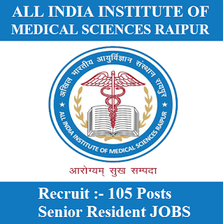 All India Institute of Medical Sciences, AIIMS, Chhattisgarh, AIIMS Raipur, Senior Resident, Graduation, freejobalert, Sarkari Naukri, Latest Jobs, aiims raipur logo