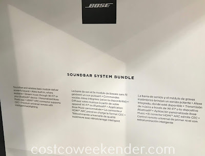 Costco 1141975 - Bose Soundbar System Bundle: great for any home entertainment system