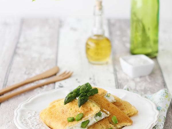 Crespelle con farina di ceci, ricotta e asparagi (senza glutine)