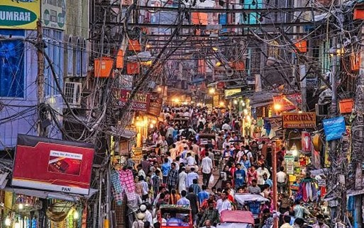 Traveling India New Delhi Pasar Tua