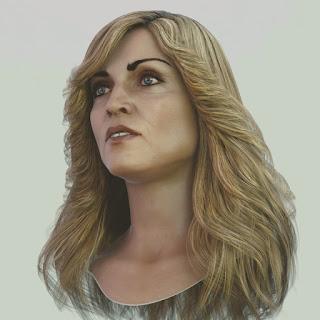 3D model Madonna singer head photorealistic female