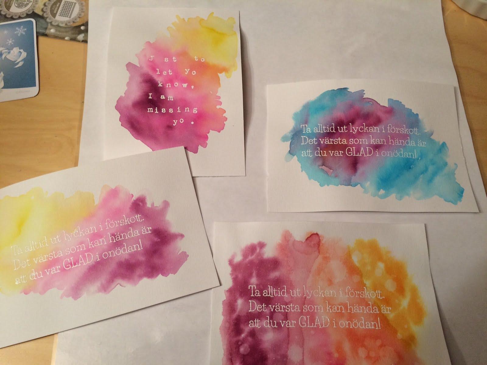 Lek med Distress Inks och stämplar från Gummiapan