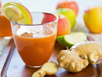 Suco detox de maçã com gengibre