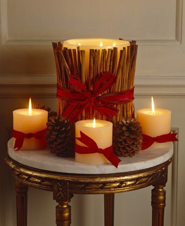 Decorative Christmas with candles, Crhistmas ornaments with candles