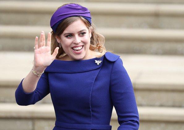 Princess Beatrice wore a Ralph & Russo dress.