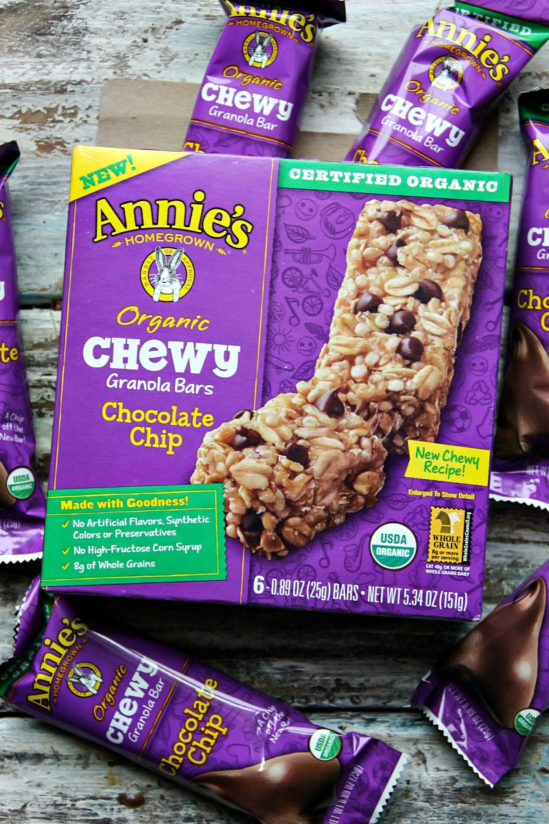 Annie's Bars - Annie's Organic Chewy Granola Bars, Chocolate Chip @AnniesHomegrown #OrganicForEveryBunny @walmart