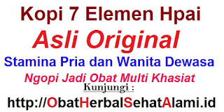 Khasiat kopi 7 elemen hpai sinergi herbal stamina kuat pria wanita