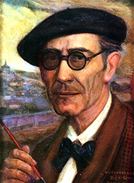José Tomás Gimena Herreros,  Self Portrait, Portraits of Painters, Fine arts, José Tomás Gimena, Portraits of painters blog, Paintings of José Tomás Gimena, Painter  José Tomás Gimena