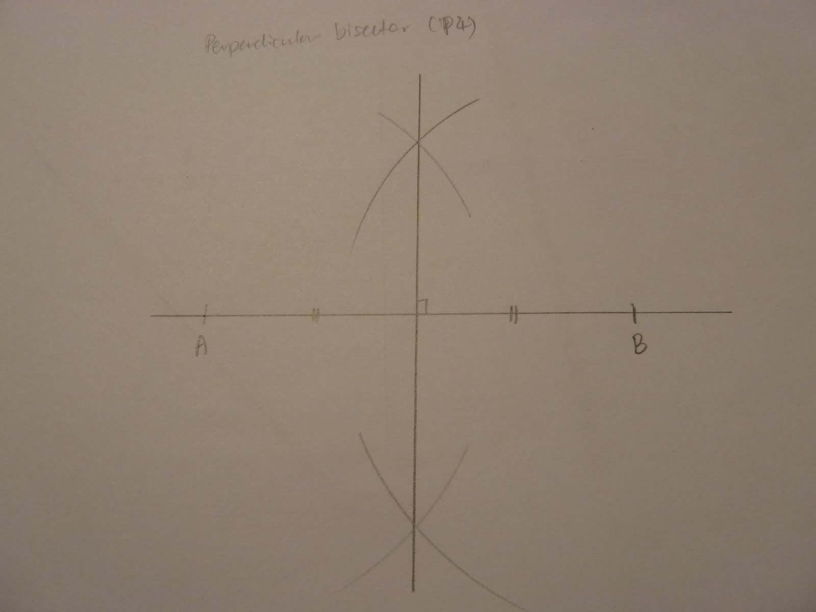 Construct Construct The Perpendicular Bisector