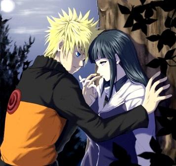 Dibujo de Naruto con su amada