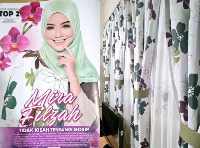 Baju Mira Filzah Diejek Sama Dengan Corak Langsir