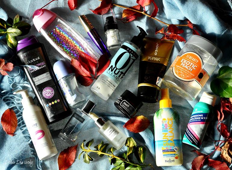 Kosmetyczne pożegnania... DENKO września 2017 w minirecenzjach - recenzje kosmetyków