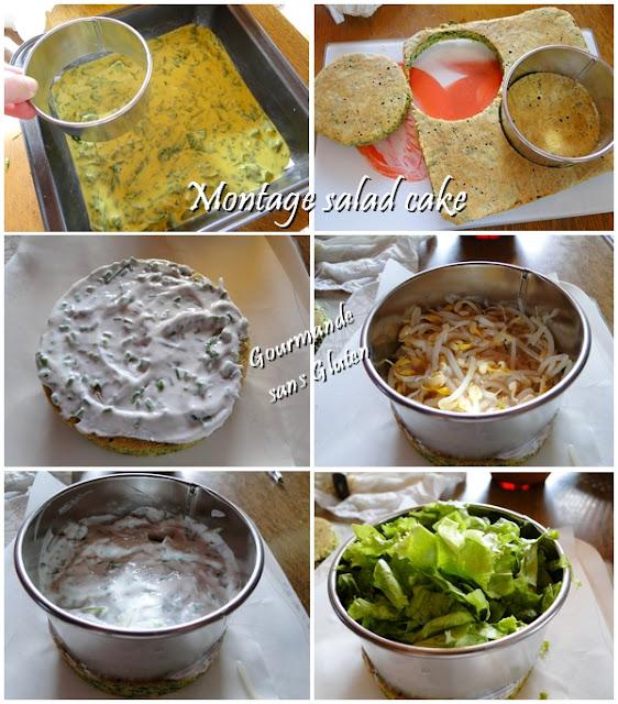 Montage salad cake