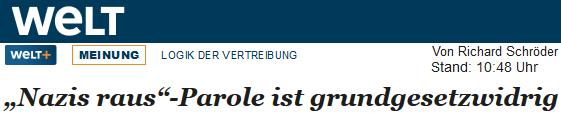 """Richard Schröder: """"Nazis raus""""-Parole ist grundgesetzwidrig"""