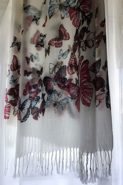 shawl, butterfly shawl