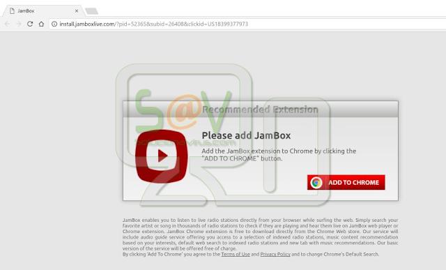 Install.jamboxlive.com pop-ups