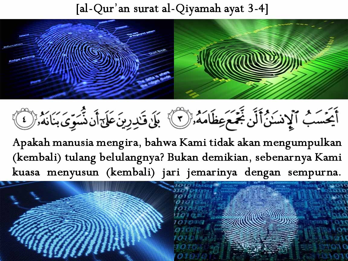 Hasil gambar untuk Tanda Pengenal Sidik Jari Ada Dalam Al-Qur'an