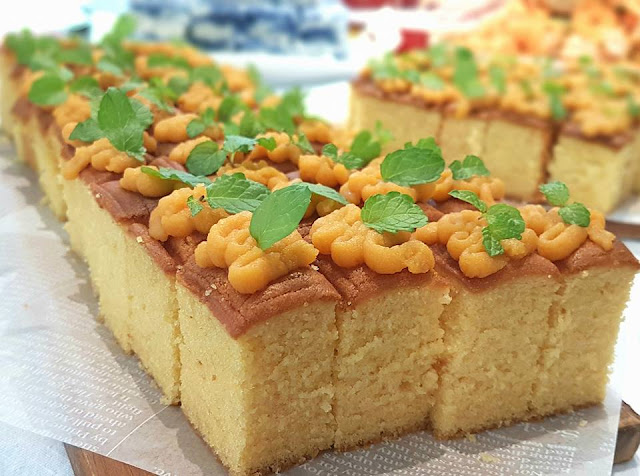 LadyHomeChef: Salted egg butter cake (Recipe adapted from ...