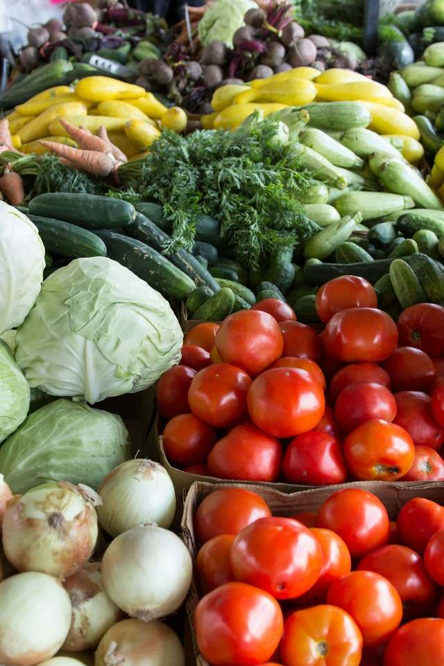 Vegetables in a market in Cabanatuan City