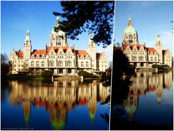Neues Rathaus y lago Maschee de Hannover