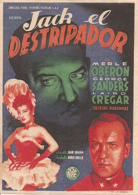 Programa de Cine - Jack el Destripador - Merle Oberon - George Sanders