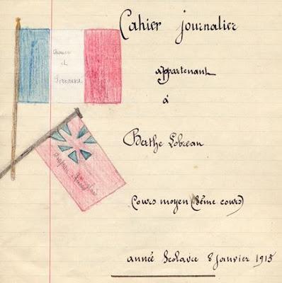 Cahier du jour, en-tête, 1913 (Collection musée)