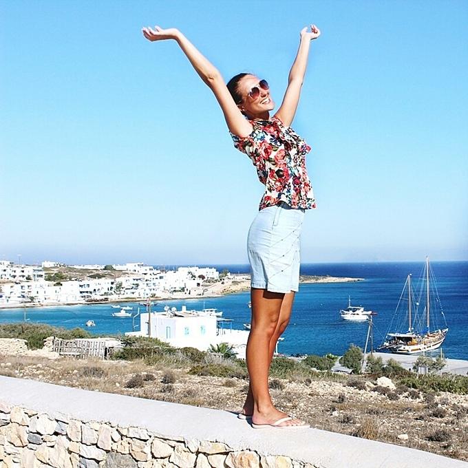 Jelena Zivanovic Instagram @lelazivanovic.Glam fab week.Exploring Koufonisia island Greece.Ostrvo Kufonisija.