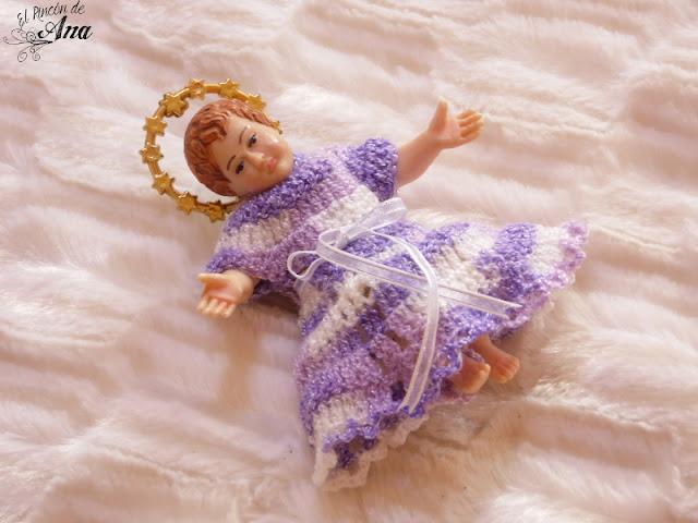 Vestido en ganchillo para el niño Dios