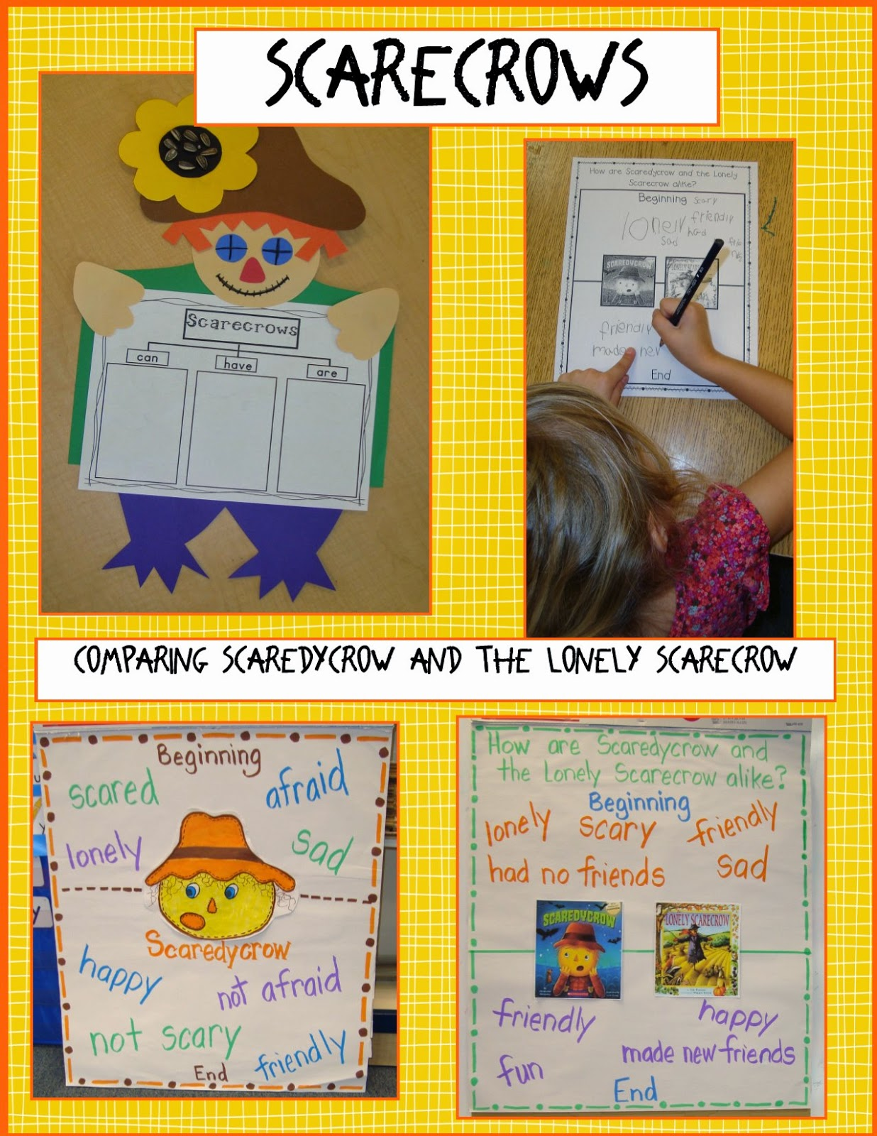 Golden Gang Kindergarten Scarecrows