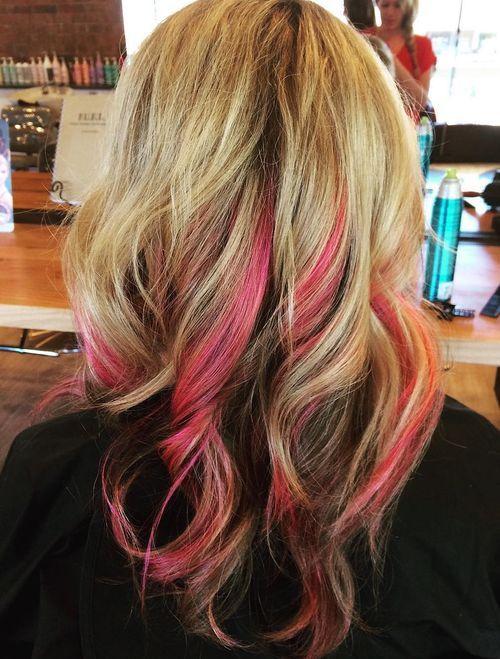 The Best Hair Style 2016 20 Pretty Ideas Of Peek A Boo Highlights