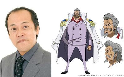 Youhei Tadano como el vicealmirante Prodi, un viejo amigo de Garp.