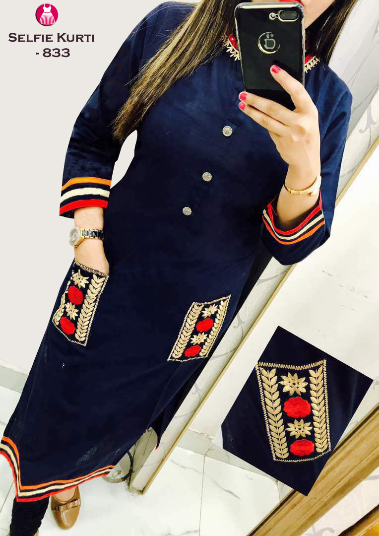 Designer Selfie Kurti (FREE SHIPPING IN INDIA) COD AVAILABLE