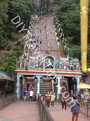 steps to climb batu caves