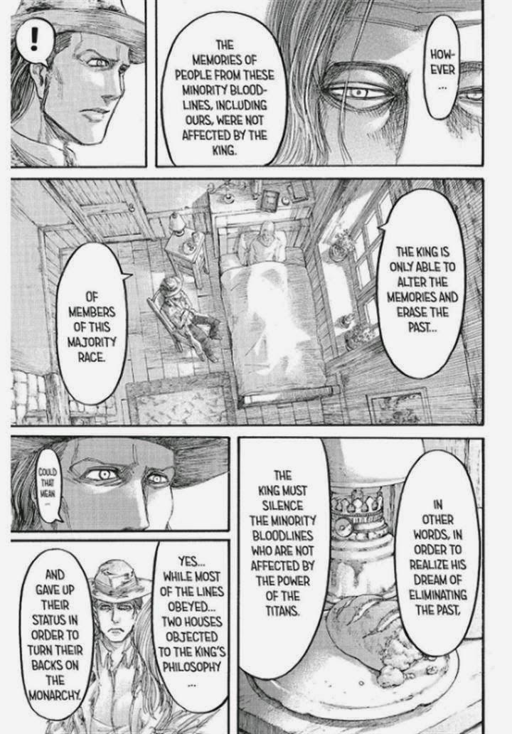Shingeki no Kyojin Ch 65:  Dreams and Curses