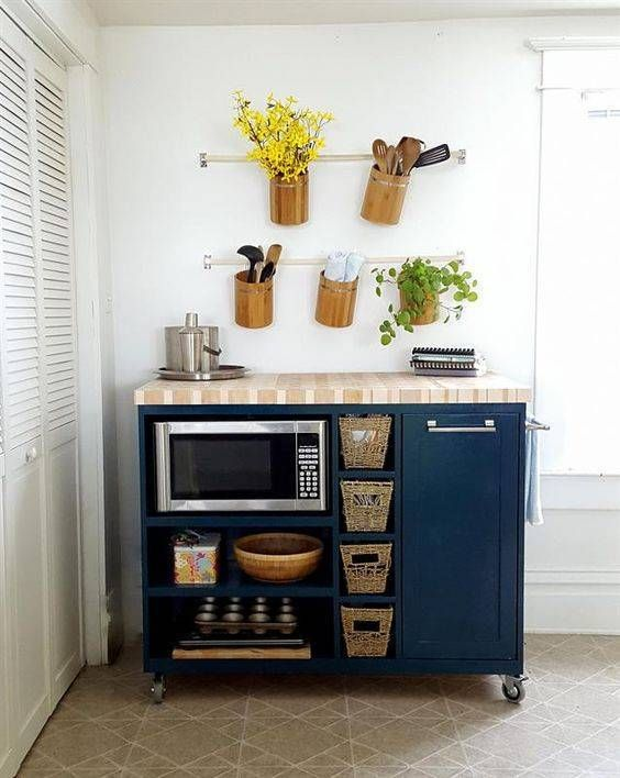 portable kitchen cart with storage