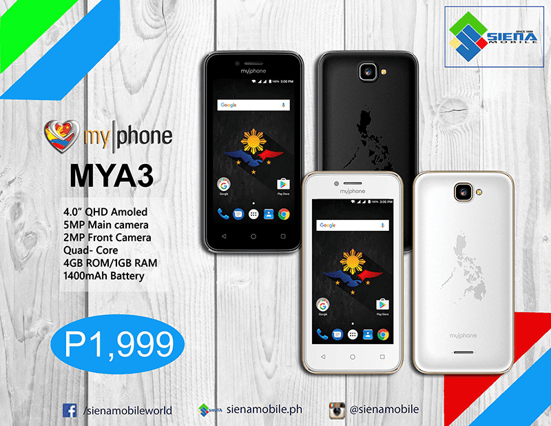 MyPhone MyA3 Has AMOLED Screen And 1 GB RAM For PHP 1999!