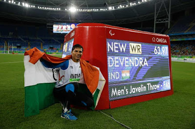 Rio Paralympics Devendra Jhajharia Wins Gold In Javelin Throw With 63.97 Metres  Mark
