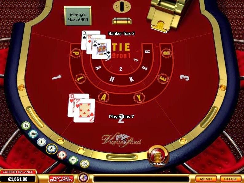 Vegas Red Baccarat Screen