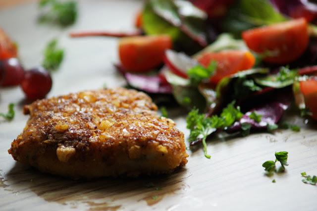Hähnchen Nuggets mit Parmesan Tortilla Panade