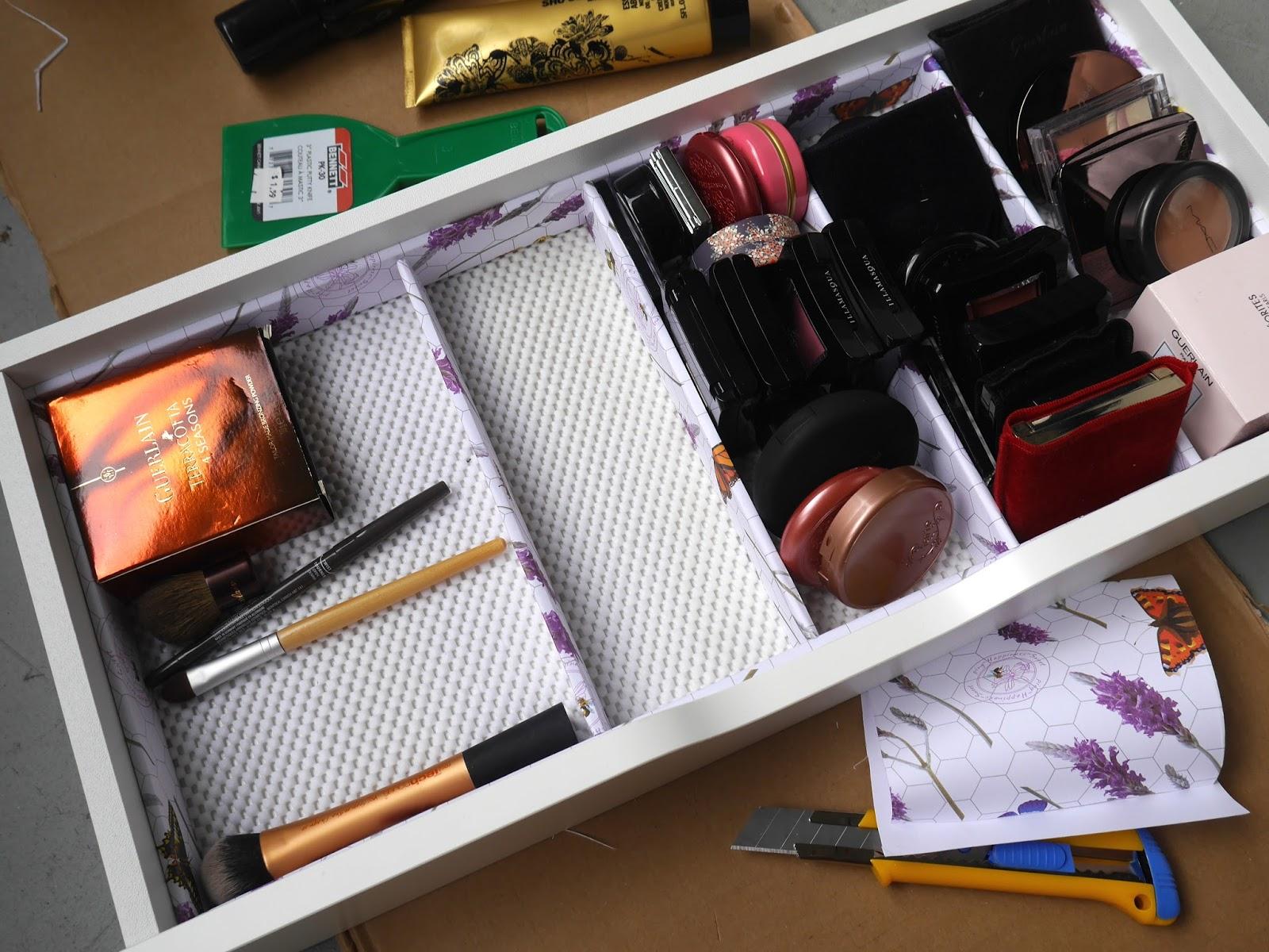 DIY Makeup Storage Drawer Dividers