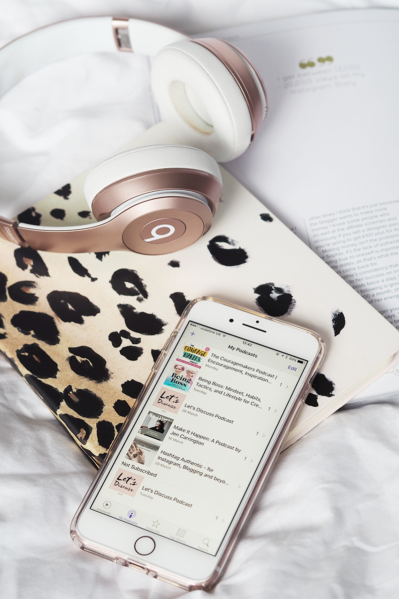 Podcasts for bloggers Instagram motivation creative living entrepeneurs | Colours and Carousels - Scottish Lifestyle, Beauty and Fashion blog