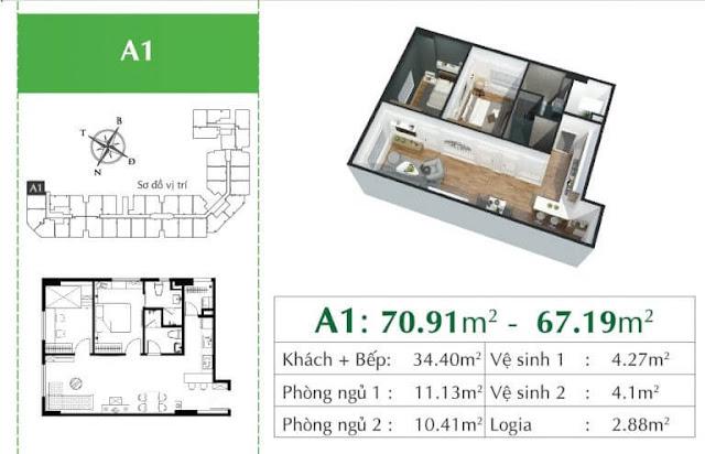 Căn A1 chung cư Ecocity Long Biên.