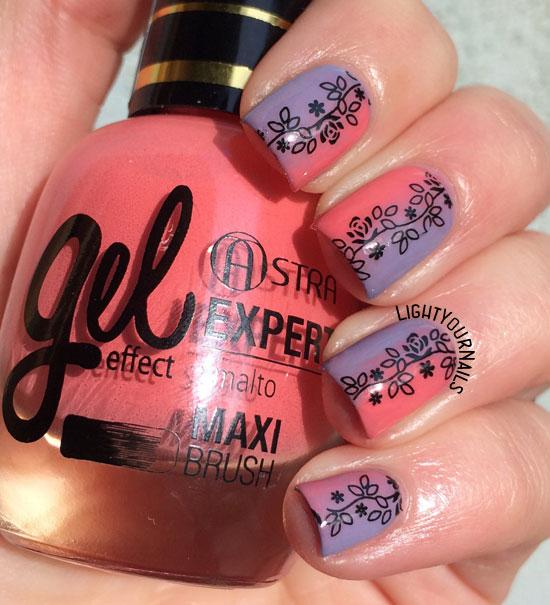 Astra Expert Gel Effect n. 34 + 35 gradient manicure sfumata