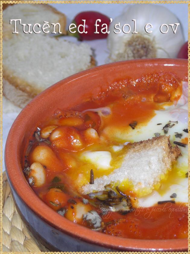 Fagioli pomodoro e uova