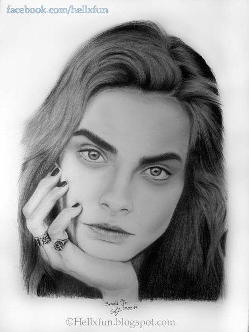 #Cara #Delevingne #Drawing